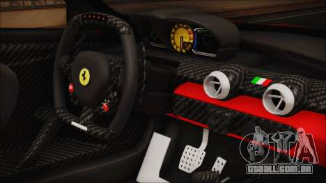 Ferrari FXX K 2016 v1.1 [HQ] para GTA San Andreas vista direita