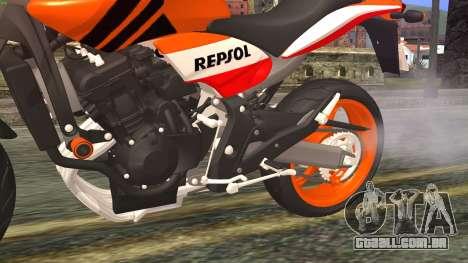 Honda Hornet Repsol 2010 para GTA San Andreas vista direita