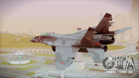 Mikoyan-Gurevich MIG-29A Russian Air Force para GTA San Andreas esquerda vista
