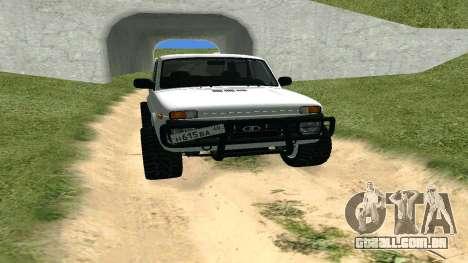 Lada Urban OFF ROAD para GTA San Andreas vista traseira