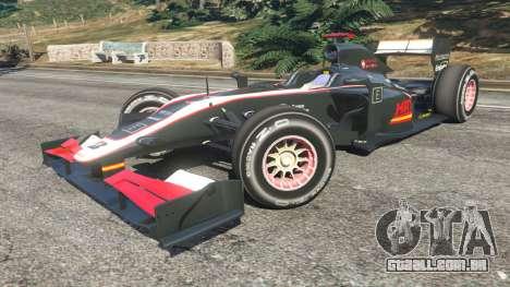 GTA 5 Hispania F110 (HRT F110) v1.1 vista lateral direita
