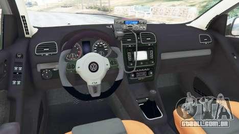 GTA 5 Volkswagen Golf Mk6 Police traseira direita vista lateral