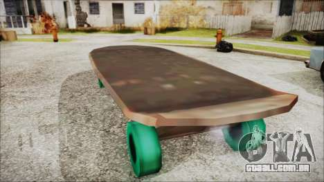 Giant Skateboard para GTA San Andreas esquerda vista