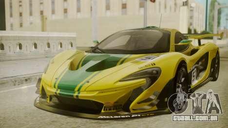 McLaren P1 GTR 2015 Yellow-Green Livery para GTA San Andreas