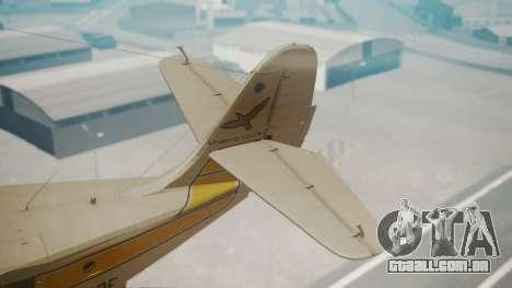 Grumman G-21 Goose WhiteYellow para GTA San Andreas traseira esquerda vista