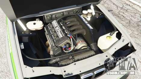 GTA 5 BMW M3 (E30) 1991 [Honoris] v1.2 traseira direita vista lateral