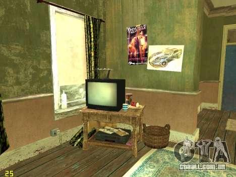 Apartamento de GTA IV para GTA San Andreas quinto tela
