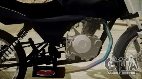 Honda Titan CG150 Stunt para GTA San Andreas traseira esquerda vista