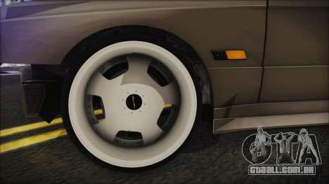 BMW M3 E30 Camber para GTA San Andreas traseira esquerda vista