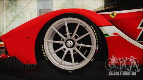 Ferrari FXX K 2016 v1.1 [HQ] para GTA San Andreas traseira esquerda vista