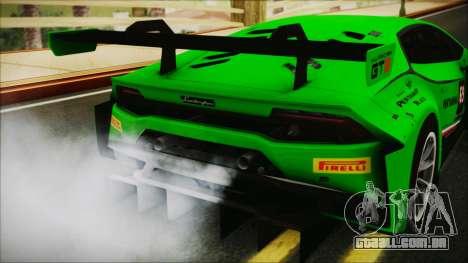 Lamborghini Huracan 610-4 GT3 2015 para GTA San Andreas vista traseira