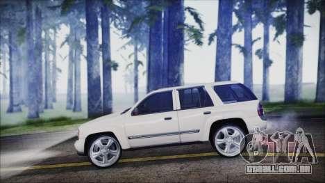 Chevrolet Triblazer para GTA San Andreas traseira esquerda vista