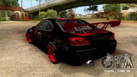 Nissan S15 Drift para GTA San Andreas traseira esquerda vista