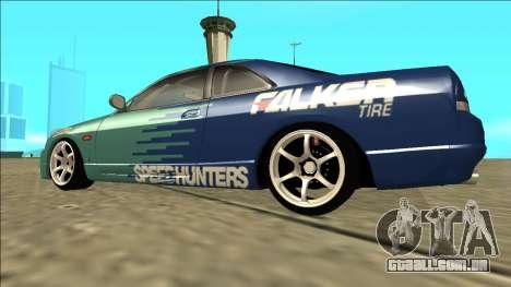 Nissan Skyline R33 Drift Falken para GTA San Andreas esquerda vista