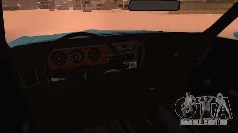 Pontiac Lemans Hardtop Coupe 1971 para GTA San Andreas vista direita