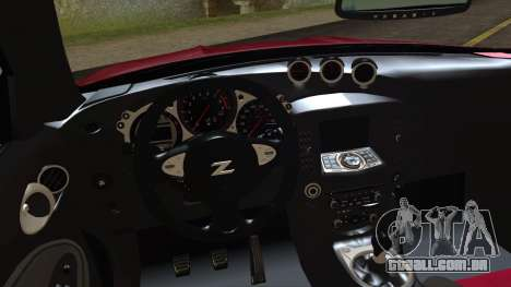 Nissan 370Z Nismo 2010 Angel Beats Itasha para GTA San Andreas vista direita