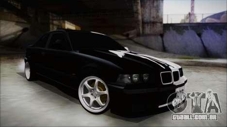 BMW M3 E36 Good and Evil para GTA San Andreas traseira esquerda vista