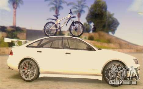 Obey Tailgater Special Tuning para GTA San Andreas esquerda vista