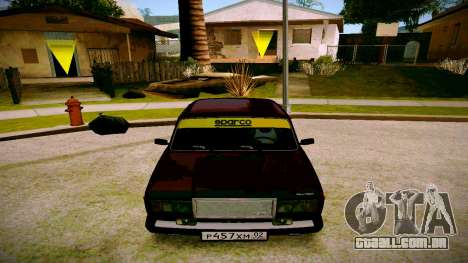 ВАЗ 2107 Luz Tuning para GTA San Andreas vista traseira