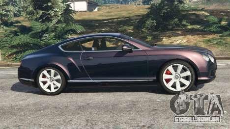 GTA 5 Bentley Continental GT 2012 v1.1 vista lateral esquerda