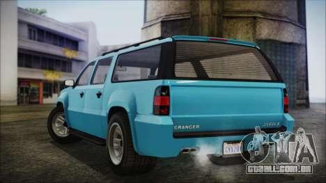 GTA 5 Declasse Granger Civilian para GTA San Andreas traseira esquerda vista