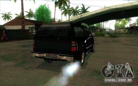 Chevrolet Exterior FSB para GTA San Andreas vista direita