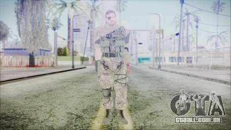 MGSV Phantom Pain Snake Scarf Woodland para GTA San Andreas segunda tela