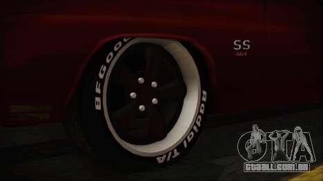 Chevrolet Chevelle Drag Car para GTA San Andreas traseira esquerda vista