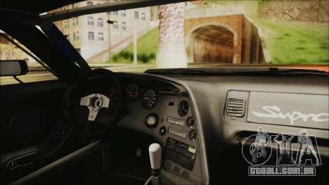 Toyota Supra JZA80 Kantai Collection Haruna PJ para GTA San Andreas vista traseira