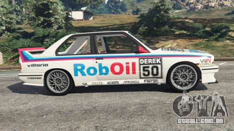 GTA 5 BMW M3 (E30) 1991 v1.2 vista lateral esquerda