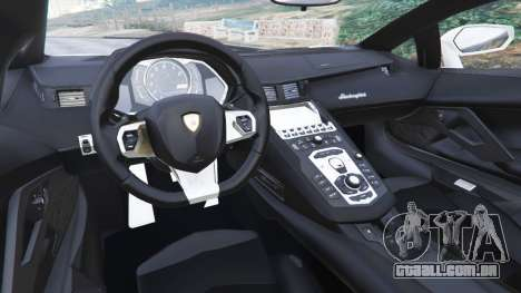 GTA 5 Lamborghini Aventador LP700-4 Dutch Police v5.5 traseira direita vista lateral