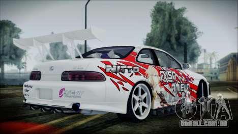 Lexus SC300 Edit para GTA San Andreas traseira esquerda vista