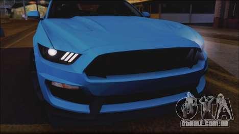 Ford Mustang Shelby GT350R 2016 para o motor de GTA San Andreas