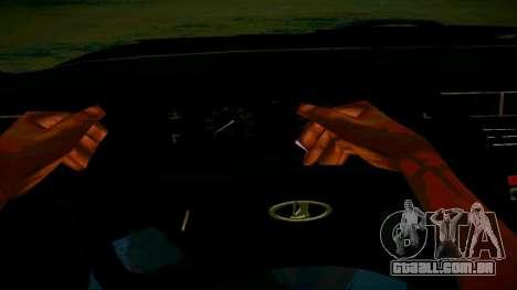 ВАЗ 2107 Luz Tuning para GTA San Andreas vista interior