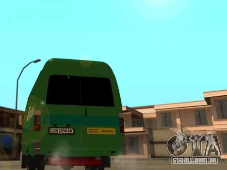 Gazela 2705 Privat v2 para GTA San Andreas traseira esquerda vista