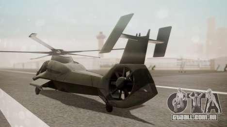 AH-99 Blackfoot para GTA San Andreas esquerda vista
