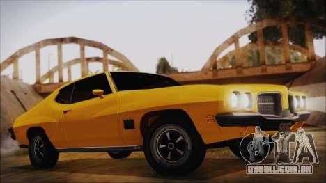 Pontiac Lemans Cupê Hardtop 1971 FIV АПП para GTA San Andreas
