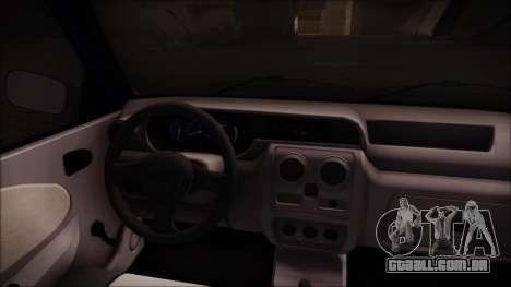 Dacia Solenza Jandarmeria para GTA San Andreas traseira esquerda vista