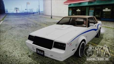 GTA 5 Willard Faction Custom without Extra Int. para vista lateral GTA San Andreas