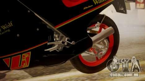 Suzuki RG 250G Walter Wolf para GTA San Andreas vista direita