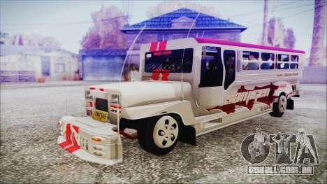 Hataw Motor Works Jeepney para GTA San Andreas