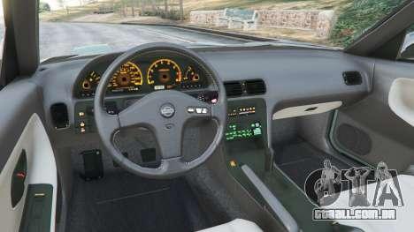 GTA 5 Nissan 240SX traseira direita vista lateral