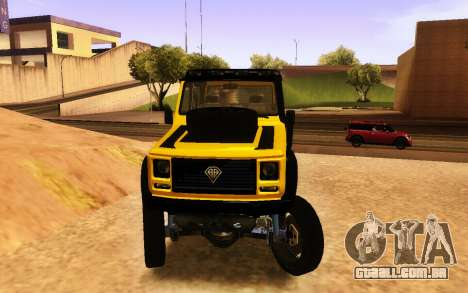Benfeitor Dubsta 6x6 Ajuste Personalizado para GTA San Andreas vista direita