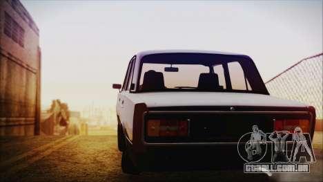 Bully VAZ 2106 Azeri Estilo para GTA San Andreas traseira esquerda vista