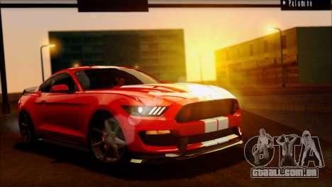 Ford Mustang Shelby GT350R 2016 para GTA San Andreas