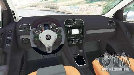 GTA 5 Volkswagen Golf Mk6 v2.0 [Slipknot] traseira direita vista lateral