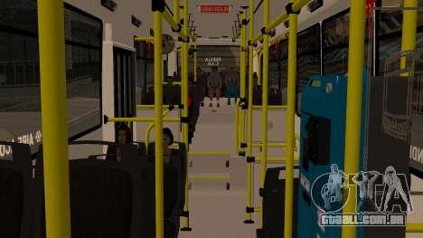 Todo Bus Agrale MT17.0LE AA para GTA San Andreas vista traseira
