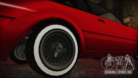 GTA 5 Willard Faction Custom without Extra IVF para GTA San Andreas traseira esquerda vista