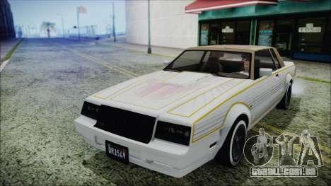 GTA 5 Willard Faction Custom without Extra IVF para GTA San Andreas vista traseira