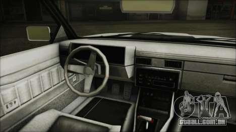 GTA 5 Willard Faction Custom without Extra Int. para GTA San Andreas traseira esquerda vista